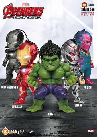Kids Nations SF06, Avengers Earphone Plug 06, Avengers: Age of Ultron, Set of 5