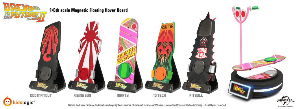 ML01, 1/6 Hover Board, Magnetic Levitating Version, Set of 5, Back To The Future Part II