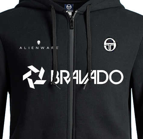 Bravado Lamar Zip-Up Sweater Black