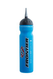 Ice hockey water bottle, 1,0L fluo blue color