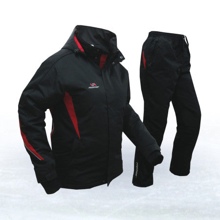 Warm padded winter sport set, jacket/coat and padded pants