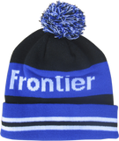Warm knitted pom pom winter hat Frontier.