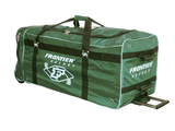 Senior size army green ice hockey player equipment wheel bag