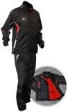 Black/red warm up pants and jacket