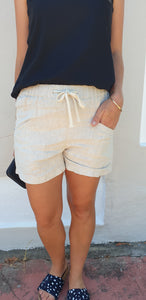 Little lies luxe shorts in Natural
