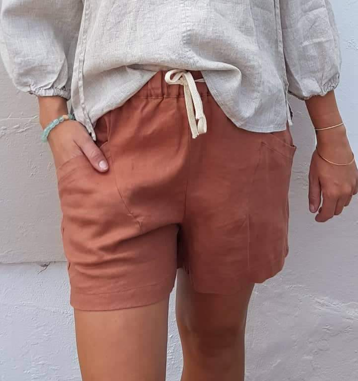 Little lies luxe shorts in Terracotta