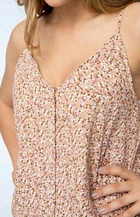 Cooper cami top in Blush floral