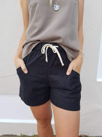 Little lies luxe shorts in Black