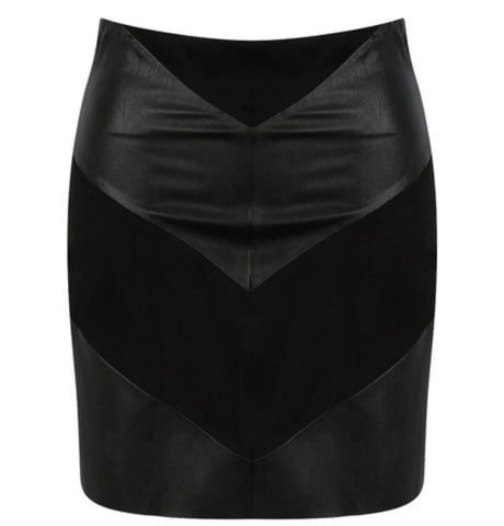 Mia Leather Look skirt