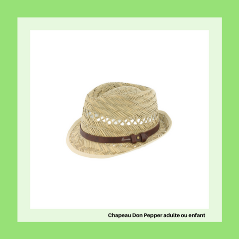Chapeau paille enfant adulte Herman Headwear