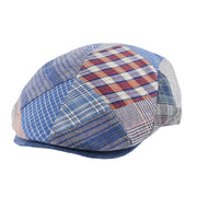 Casquette plate patchwork Andaman Herman HeadwearCasquette plate patchwork Andaman Herman Headwear