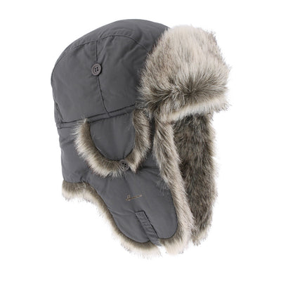 chapka waterdicht anthraciet faux fur Buck 001 Herman