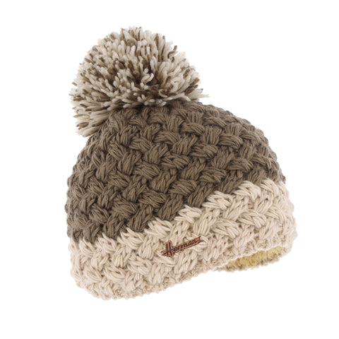Two-tone beige beanie plush lined plush justin 8172 Herman