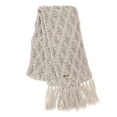 JUSTIN 8208 United scarf with fringes lined plush