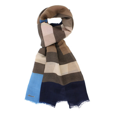 Color multicolored striped foulard cocon 005 blue Herman