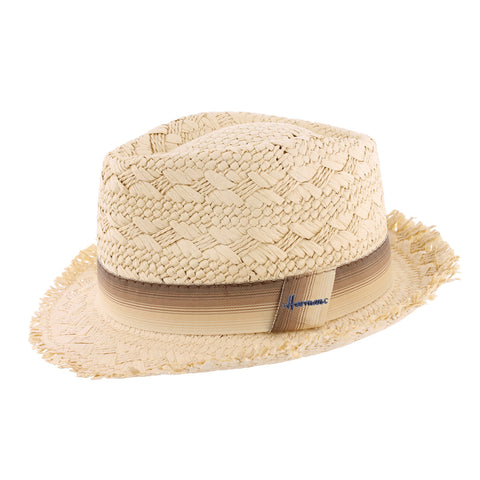 chapeau paille beige Don Drago Herman