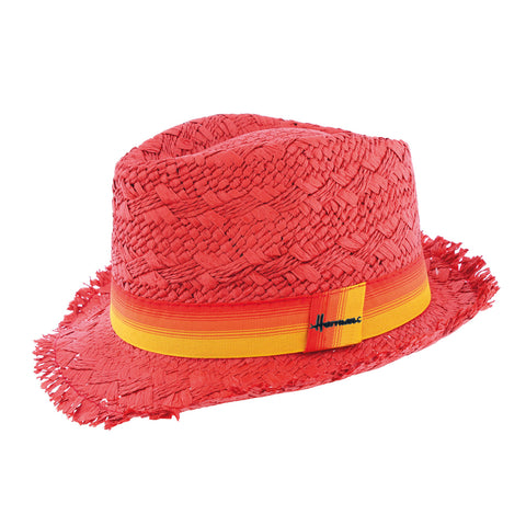 chapeau paille rouge Don Drago Herman