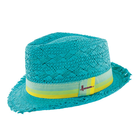 chapeau paille bleu Don Drago Herman