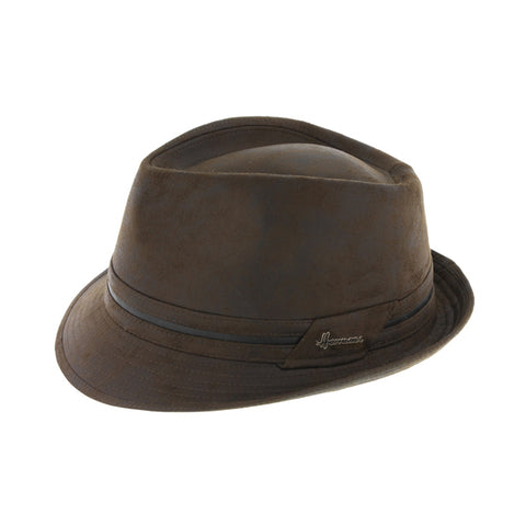 Chapeau tribly imitation cuir marron Don kairan Herman