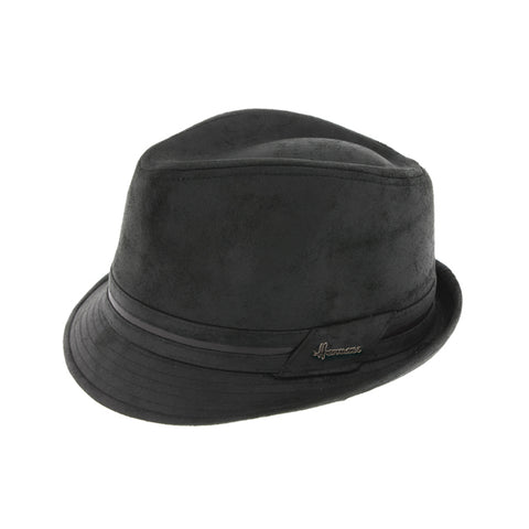 Chapeau tribly imitation cuir noir Don kairan Herman