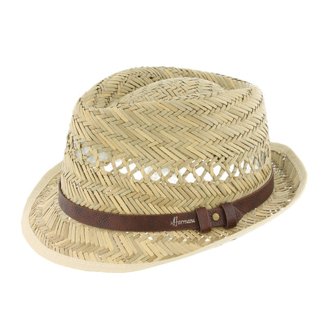 chapeau paille naturel Herman Don Pepper Homme femme enfant