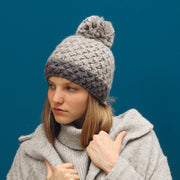 Two-tone grey hat lined plush justin 8172 Herman