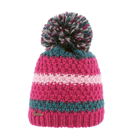 Bonnet rayé multicolore fuschia justin 8180 Herman