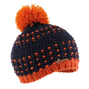 Bonnet bicolore enfant orange justin 8261 Herman