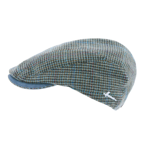 LISTER | Casquette plate tweed chiné