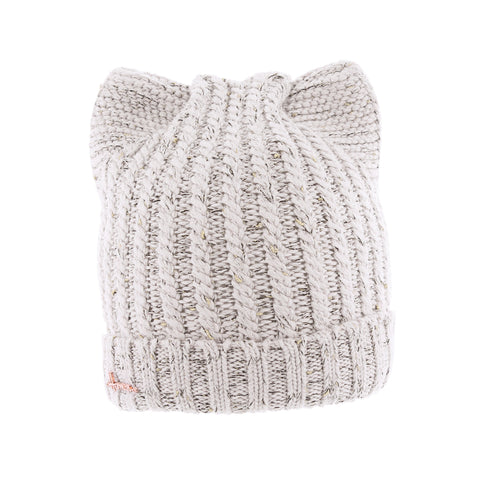 LOUISE 057 | Bonnet adulte uni fil brillant avec oreilles de chat