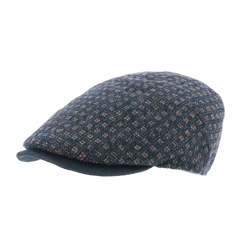 MACIS | Flat cap with dotted pattern, faux leather visor