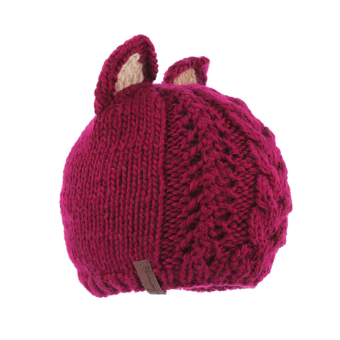 MAGGY 8242 | Bonnet enfant bicolore oreilles de chat