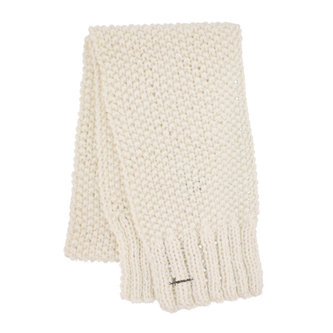 MAGGY 8513 | Echarpe tricot unie avec strass