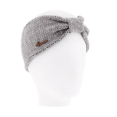MAGGY 8621 Adult plain headband with shiny lurex yarn and knot