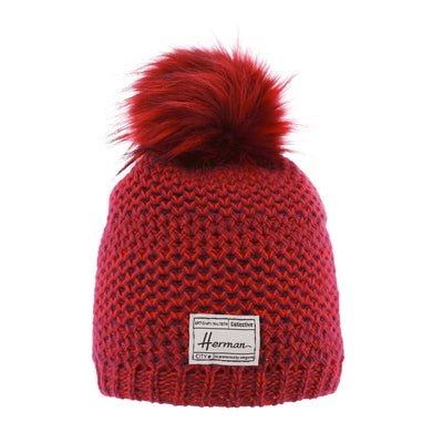 MAGGY 8622 Bonnet long chiné avec pompon
