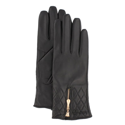 PAINTER 006 / women's leather gloves with zipper.