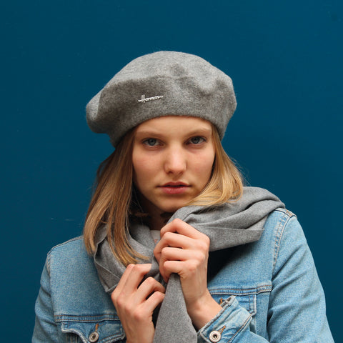 PHOEBE | Adult plain wool beret