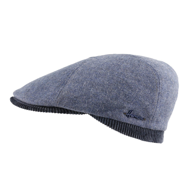 casquette plate herman unie velours