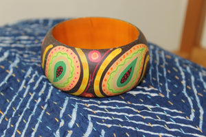 Brown Hand Painted Wooden Kada