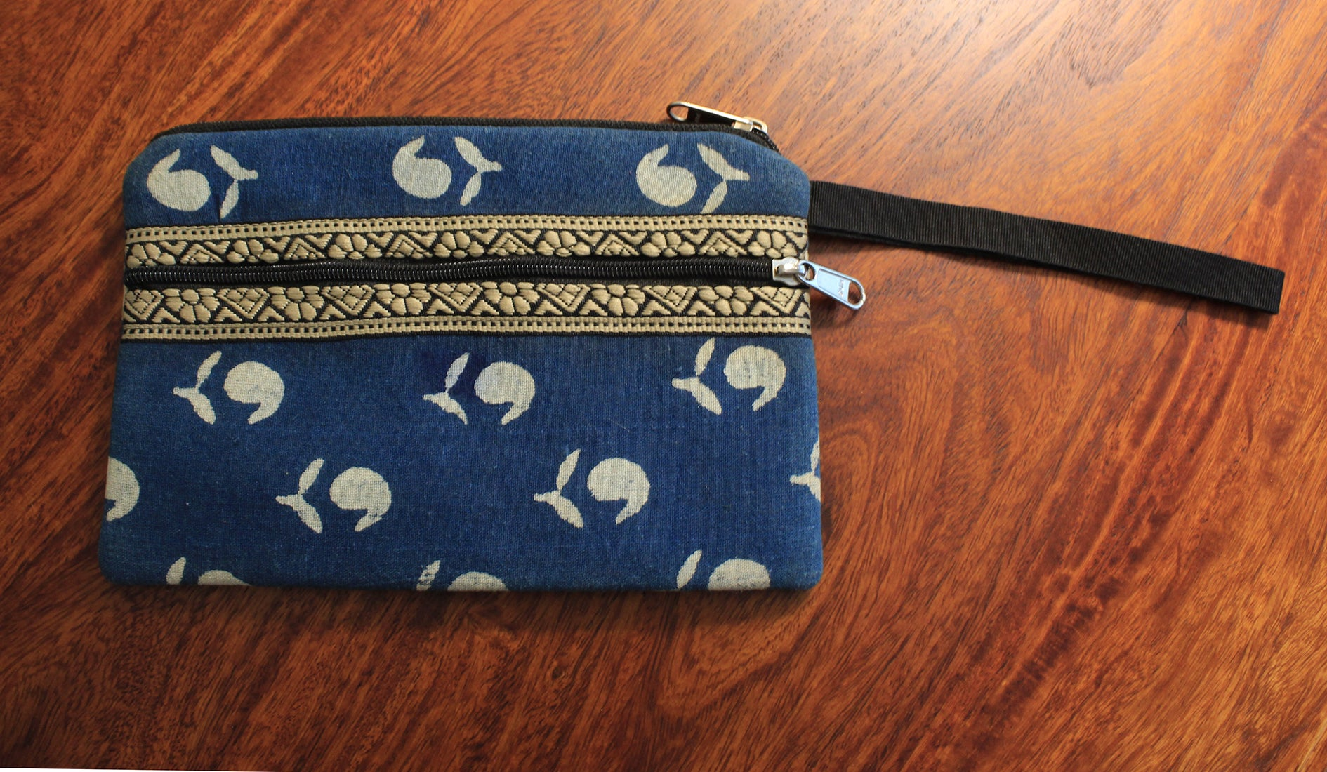 Indigo Hand Block Printed Cash/Card Pouch