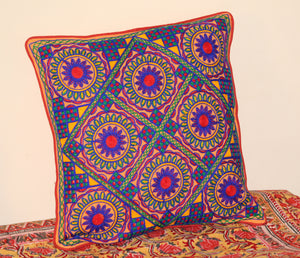 Pure Cotton Hand Embroidered Kutchi Cushion Covers