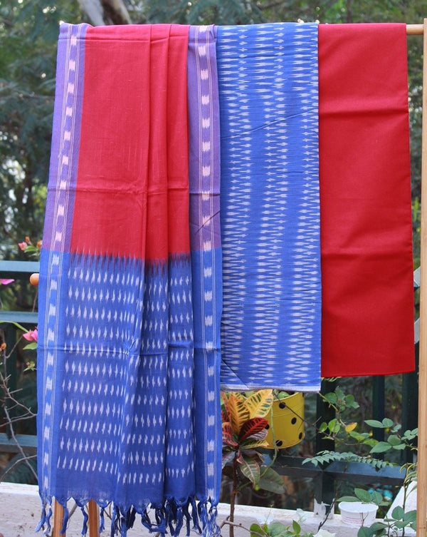 Pochampally Ikkat Handloom Dress Material