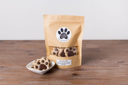 Carob-chip Paws topped with carob