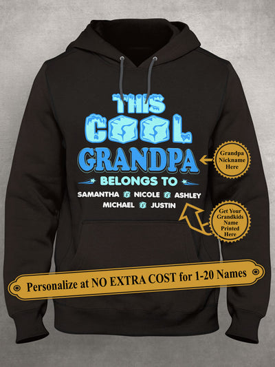This Cool Grandpa Belongs To. Personalized Grandpa Shirt With Grandkids Names On Shirt (70% OFF Today) Most Grandpas Buy 2-4 Shirts