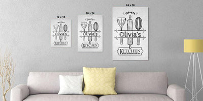 Personalized Kitchen Canvas