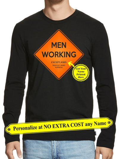 "Men Working Except ""Name"" Personalize Funny Personalize Custom Shirt (70% OFF Today) Most Buy 2-4 Shirts"