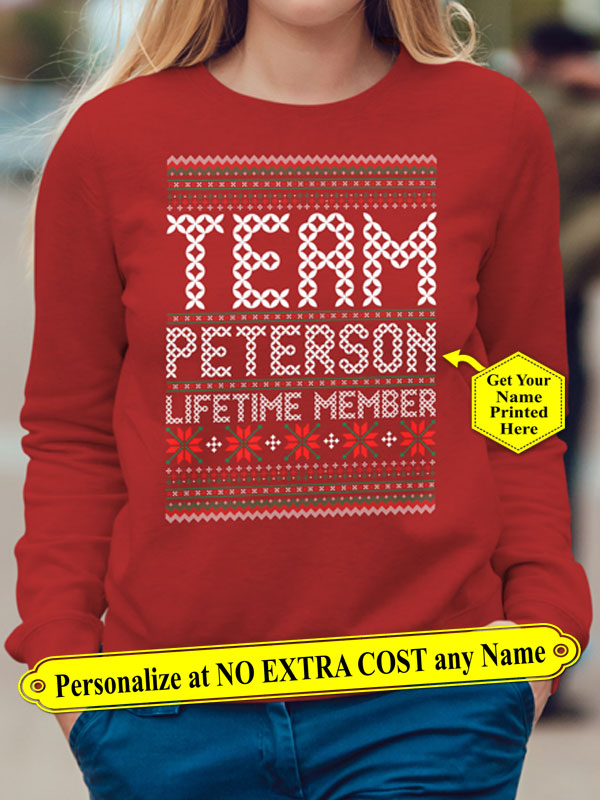 Team NAME Lifetime Member. Personalized NAME Shirt. (70% OFF Today)