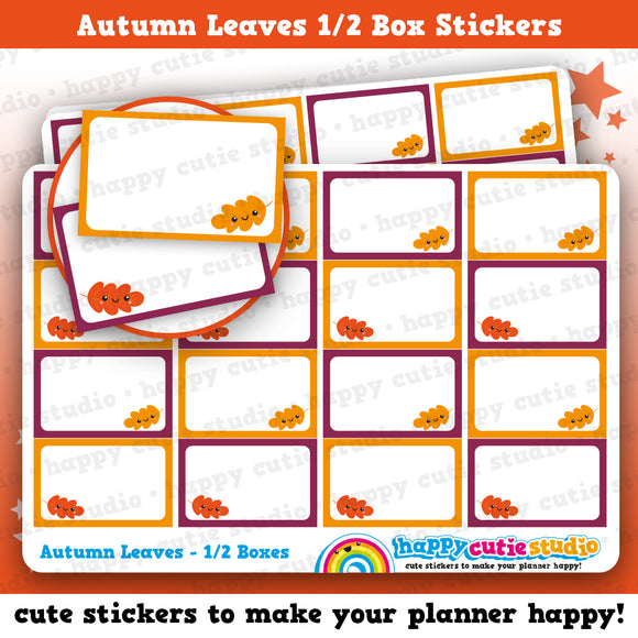 16 Cute Autumn Leaves Half Box/Functional/Practical Planner Stickers