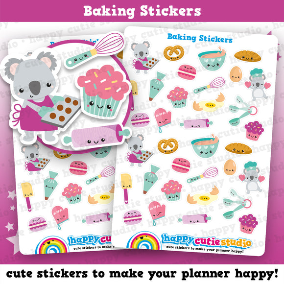 34 Cute Baking/Cooking/Cakes/Cookies Planner Stickers