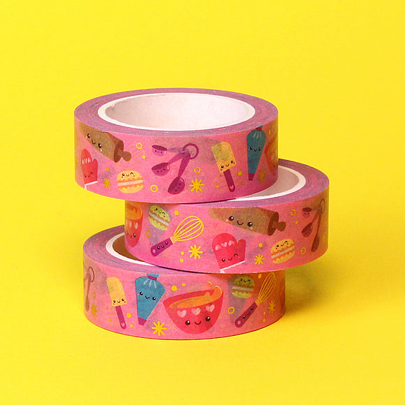 Gold Foil Bake Me A Cake Washi Tape